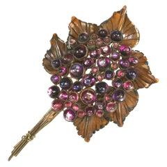 Rare B. Blumenthal Co. Bakelite and Lucite Flower Brooch
