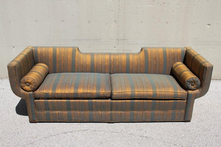 Mid-Century Modern Rare Baker Furniture Co. Gondola Sofa, Midcentury For Sale
