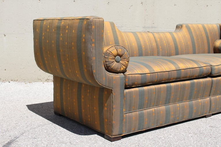Rare Baker Furniture Co. Gondola Sofa, Midcentury In Good Condition For Sale In St. Louis, MO