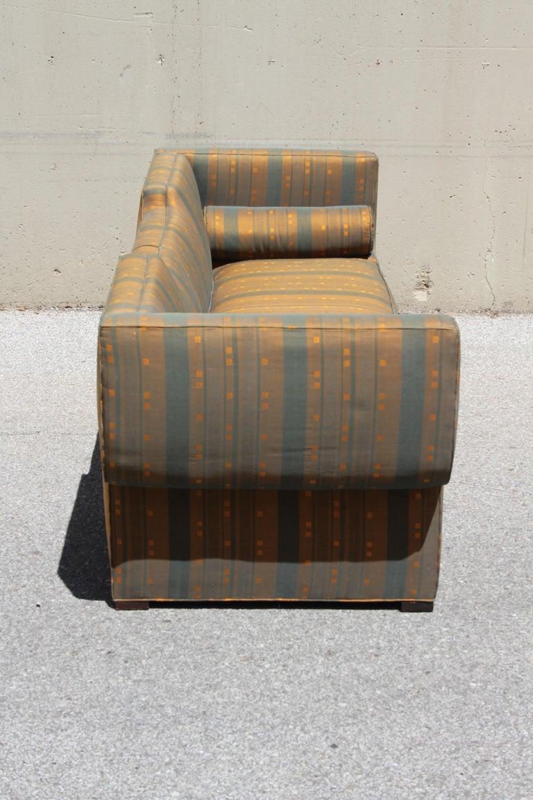 Mid-20th Century Rare Baker Furniture Co. Gondola Sofa, Midcentury For Sale