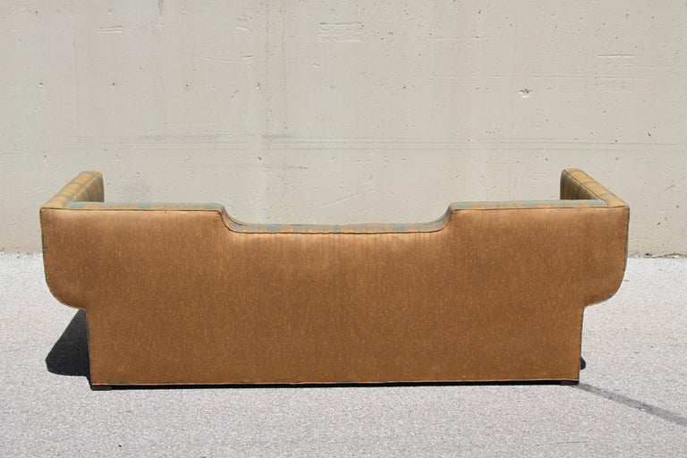 Upholstery Rare Baker Furniture Co. Gondola Sofa, Midcentury For Sale