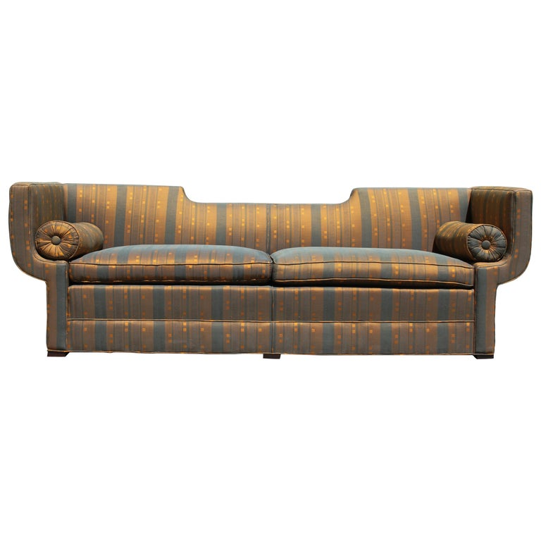 Rare Baker Furniture Co. Gondola Sofa, Midcentury For Sale