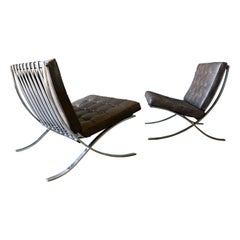 Rare Barcelona Chairs by Gerald R. Griffith for Ludwig Mies van der Rohe, 1970