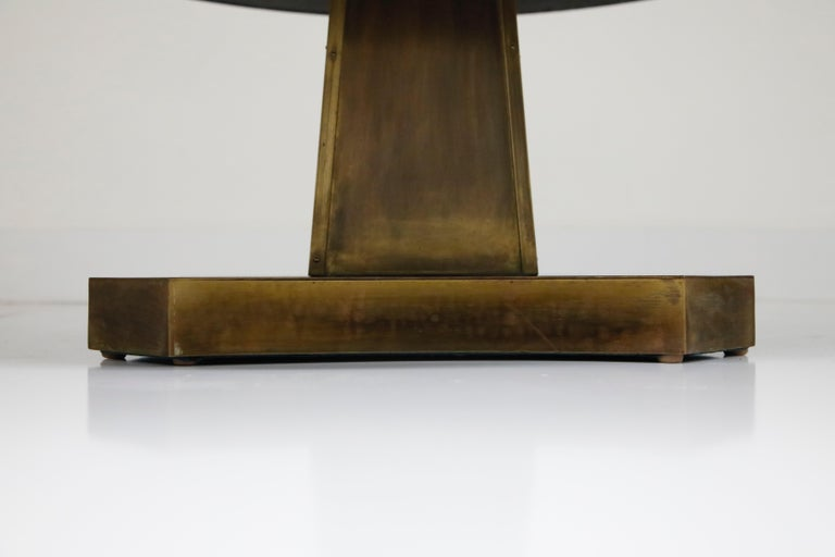 Rare Base & Acid Etched Bronze Classical Table by Philip & Kelvin LaVerne, 1960s For Sale 4