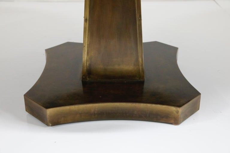 Rare Base & Acid Etched Bronze Classical Table by Philip & Kelvin LaVerne, 1960s For Sale 5