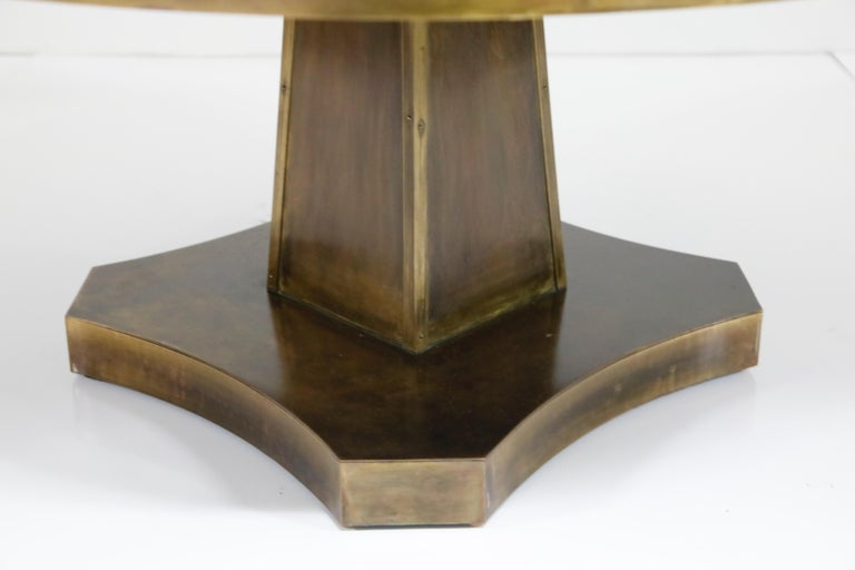 Rare Base & Acid Etched Bronze Classical Table by Philip & Kelvin LaVerne, 1960s For Sale 6