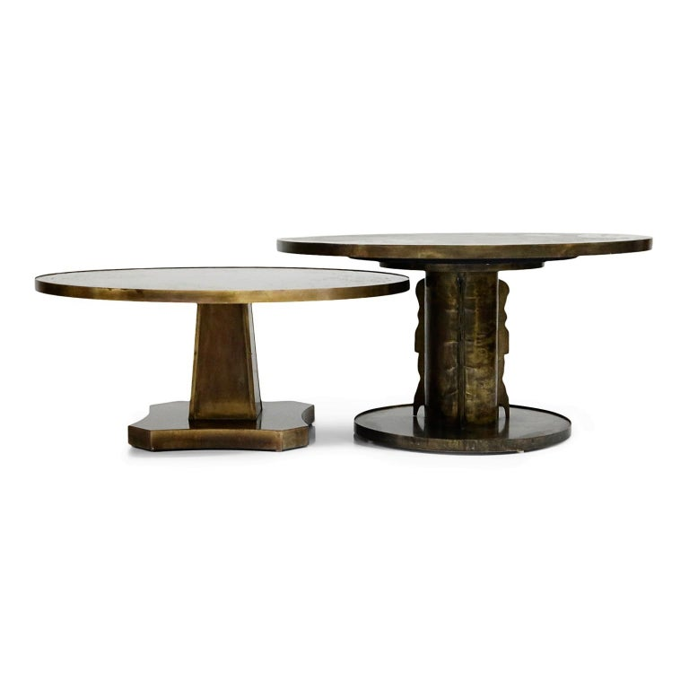 Rare Base & Acid Etched Bronze Classical Table by Philip & Kelvin LaVerne, 1960s For Sale 13