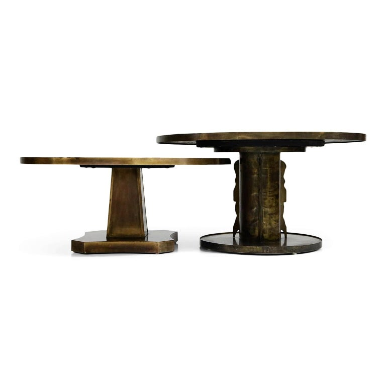 Rare Base & Acid Etched Bronze Classical Table by Philip & Kelvin LaVerne, 1960s For Sale 14