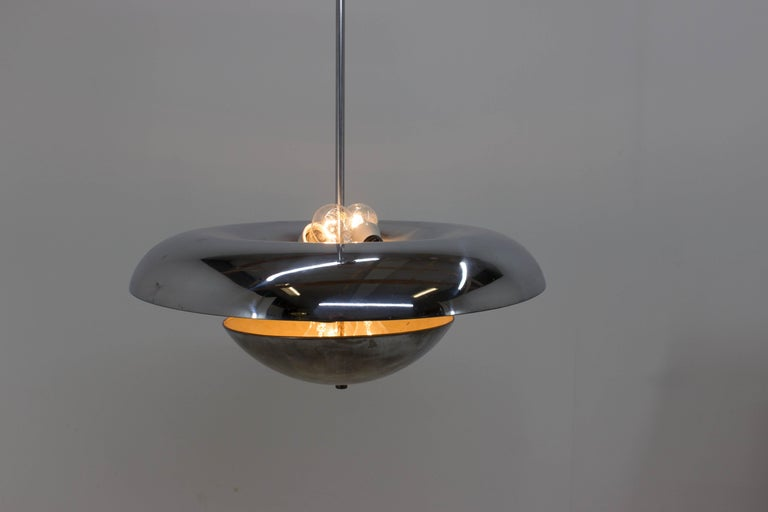Mid-20th Century Rare Bauhaus Chandelier by Frantisek Anyz for Napako, 1930s For Sale