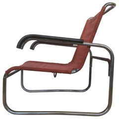 Rare Bauhaus Chrome Armchair Thonet B 35, Marcel Breuer, 1930s
