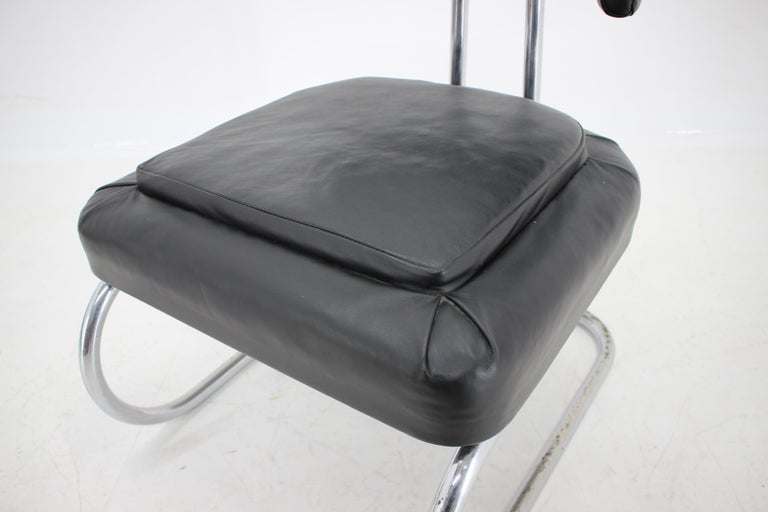 Rare Bauhaus Chrome Tubular Chair by Mücke Melder, 1930s In Good Condition For Sale In Praha, CZ