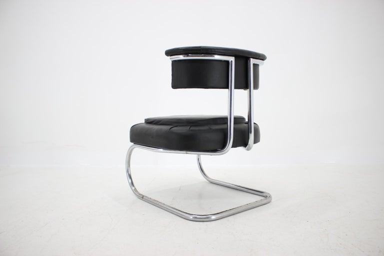 Mid-20th Century Rare Bauhaus Chrome Tubular Chair by Mücke Melder, 1930s For Sale