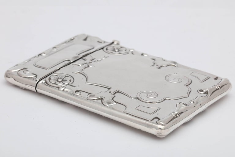 Rare Beautiful Sterling Silver Arts & Crafts Calling Card/Business Card Case For Sale 4