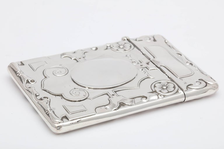 Rare Beautiful Sterling Silver Arts & Crafts Calling Card/Business Card Case In Excellent Condition For Sale In New York, NY