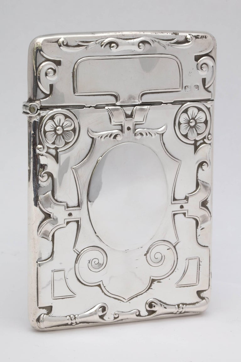 Early 20th Century Rare Beautiful Sterling Silver Arts & Crafts Calling Card/Business Card Case For Sale