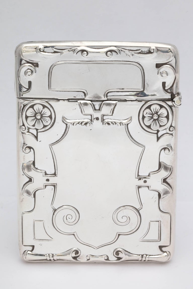 Rare Beautiful Sterling Silver Arts & Crafts Calling Card/Business Card Case For Sale 2