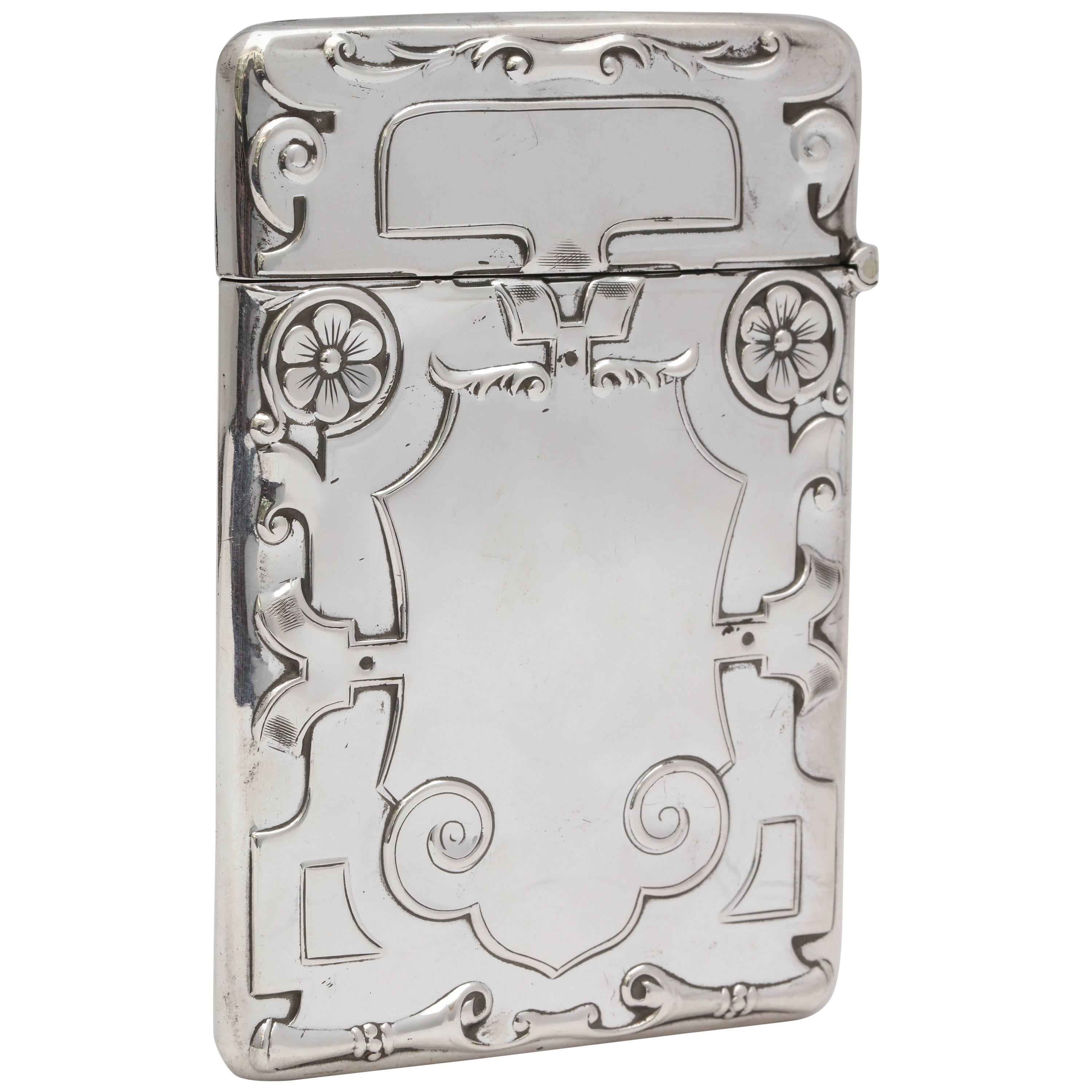 Rare Beautiful Sterling Silver Arts & Crafts Calling Card/Business Card Case