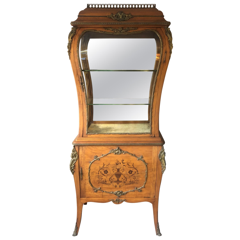 Rare Beauty 19th Century Edwardian Curio Vitrine Display Cabinet