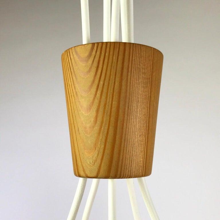 Rare Bent Pinewood Ceiling Light by Hans-Agne Jakobsson, Sweden, 1960 For Sale 4