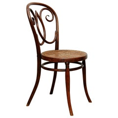 Rare Bentwood and Rattan Chair in the Style of Thonet, circa 1920