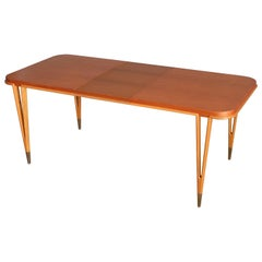 Rare Bertil Fridhagen Dining Table Produced by Bodafors, Sweden, 1960s