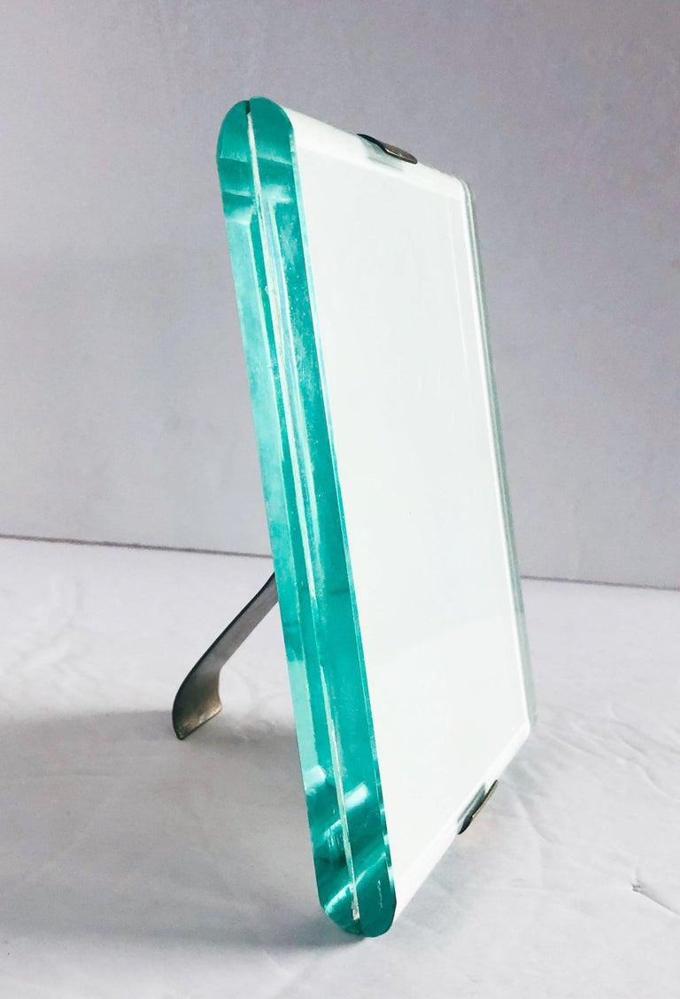 Glass Rare Photo Frame by Fontana Arte For Sale