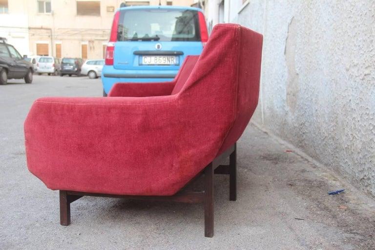 Rare Big Curved Sofa Italian Cassina Attributed to Gigi Radice, circa 1958  For Sale 3