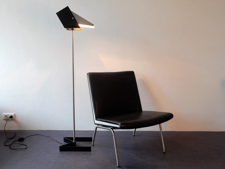 Rare Black and Metal Adjustable Floor Lamp for Lyfa, 1950s-1960s For Sale 5