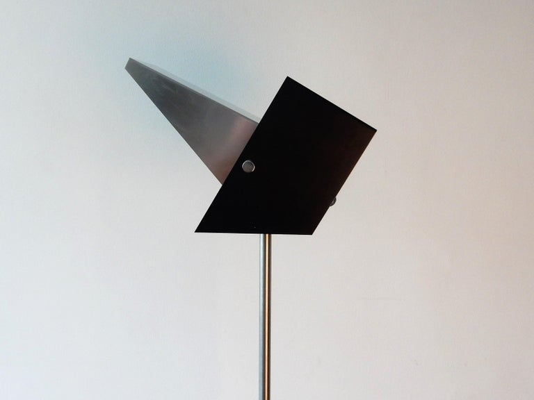Mid-20th Century Rare Black and Metal Adjustable Floor Lamp for Lyfa, 1950s-1960s For Sale