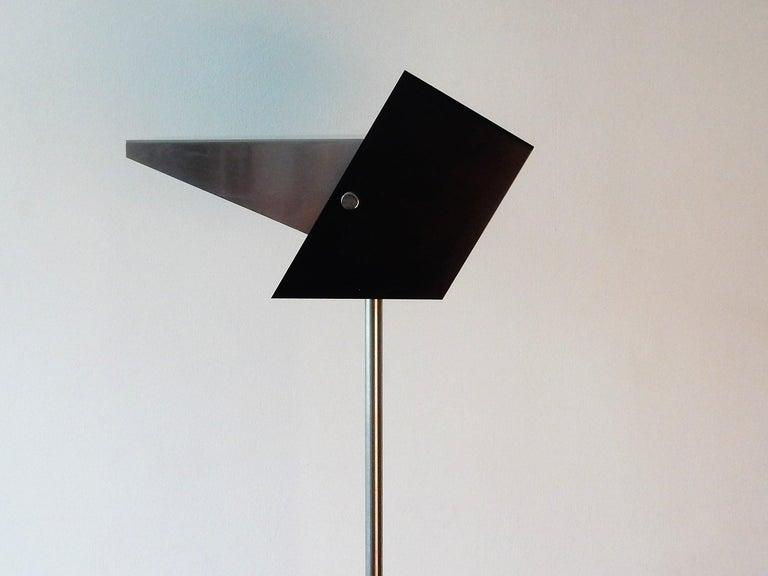 Rare Black and Metal Adjustable Floor Lamp for Lyfa, 1950s-1960s For Sale 1