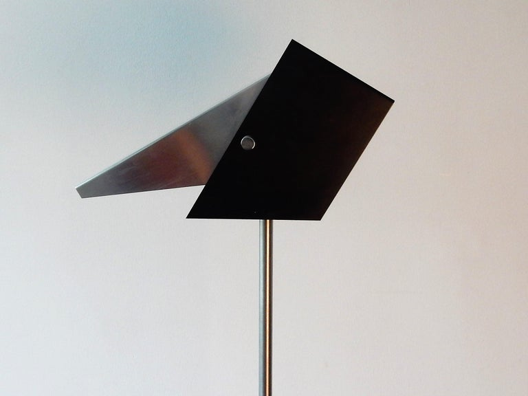 Rare Black and Metal Adjustable Floor Lamp for Lyfa, 1950s-1960s For Sale 2