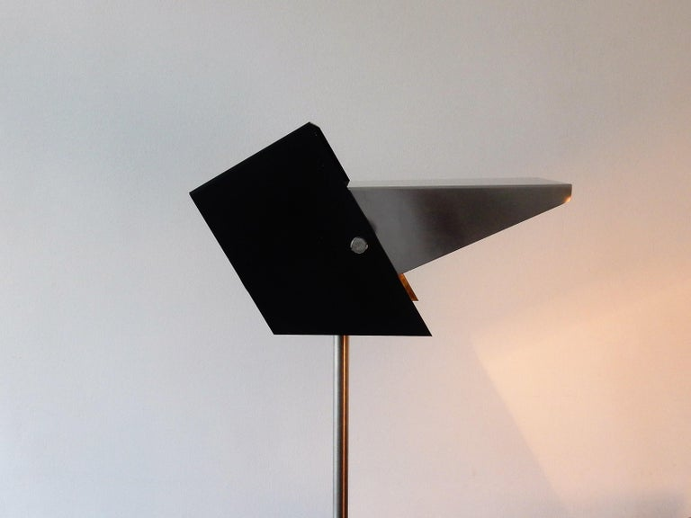 Rare Black and Metal Adjustable Floor Lamp for Lyfa, 1950s-1960s For Sale 4