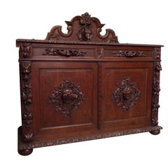 Rare Black Forest Hunts Sideboard or Buffet, circa 1880