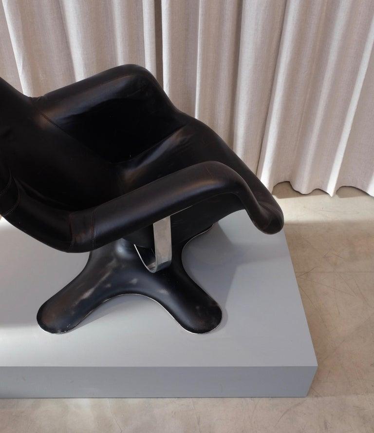 Rare Black Midcentury Karuselli Chair by Yrjö Kukkapuro for Haimi, 1960s For Sale 3