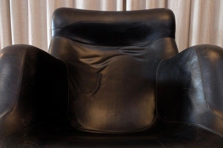 Rare Black Midcentury Karuselli Chair by Yrjö Kukkapuro for Haimi, 1960s For Sale 4