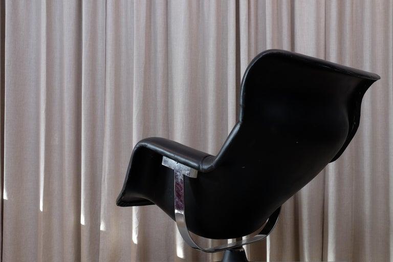 Mid-20th Century Rare Black Midcentury Karuselli Chair by Yrjö Kukkapuro for Haimi, 1960s For Sale