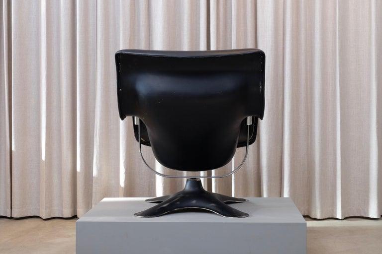 Rare Black Midcentury Karuselli Chair by Yrjö Kukkapuro for Haimi, 1960s For Sale 1