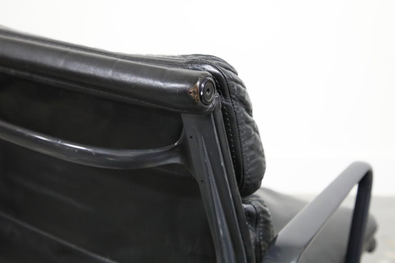 Rare Black on Black Eames Soft Pad Management Chair by Herman Miller, 1988 For Sale 9