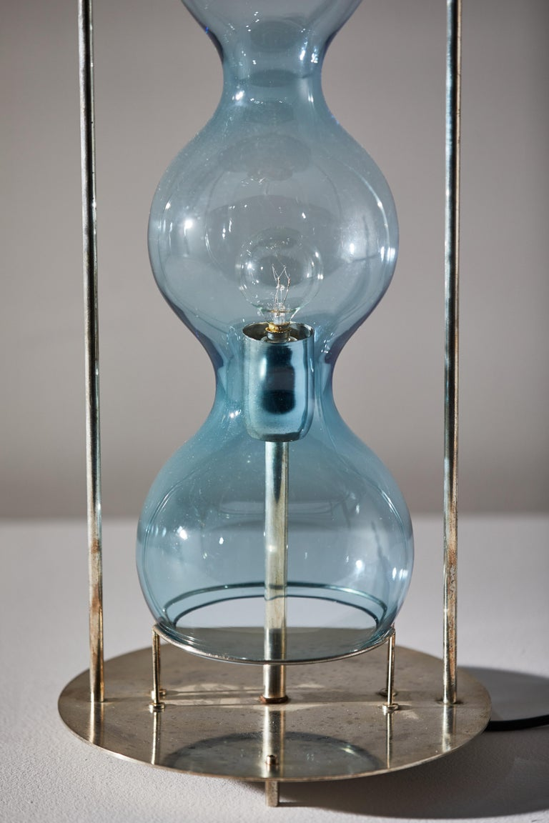 Late 20th Century Rare Blown Glass Table Lamp by Jeannot Cerutti for VeArt For Sale
