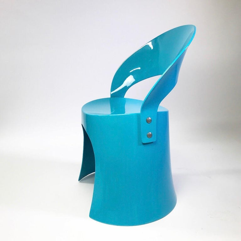 Scandinavian Modern Rare Blue Chair by Nanna Ditzel for Domus Danica, Denmark, 1969 For Sale