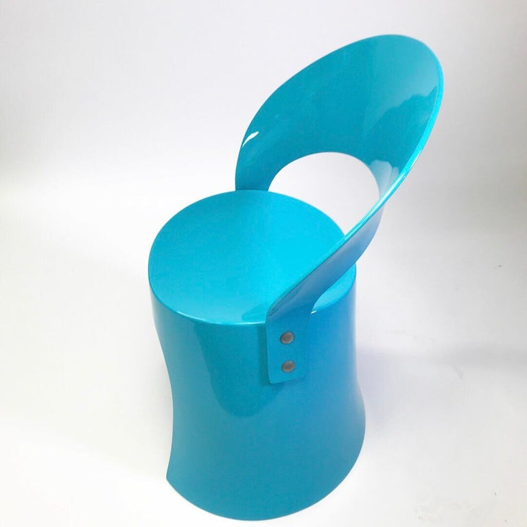 Rare Blue Chair by Nanna Ditzel for Domus Danica, Denmark, 1969 In Good Condition For Sale In Haderslev, DK