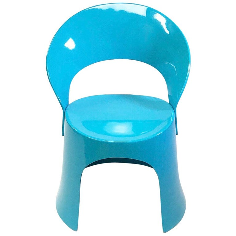 Rare Blue Chair by Nanna Ditzel for Domus Danica, Denmark, 1969 For Sale