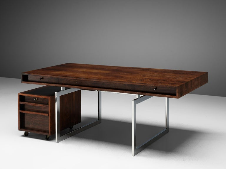 Rare Bodil Kjaer Executive Writing Table and Cabinet For Sale 3