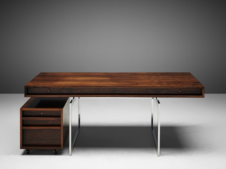 Rare Bodil Kjaer Executive Writing Table and Cabinet For Sale 4