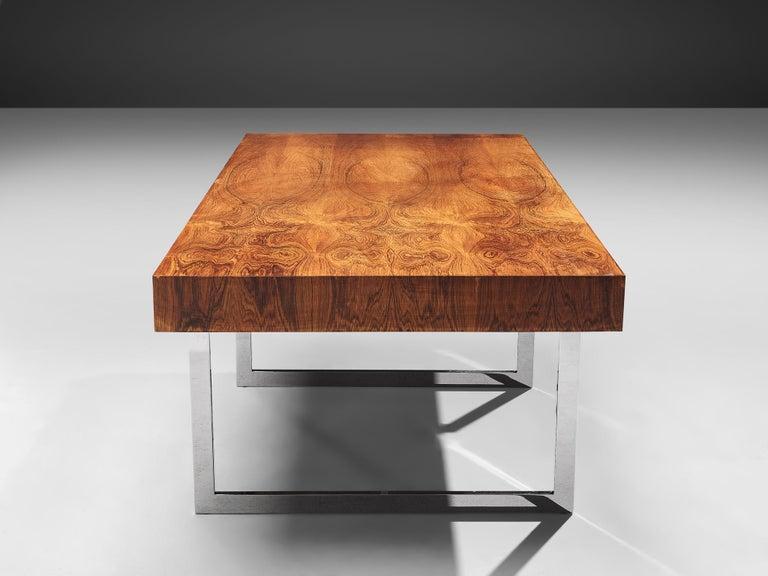 Wenge Rare Bodil Kjaer Executive Writing Table and Cabinet