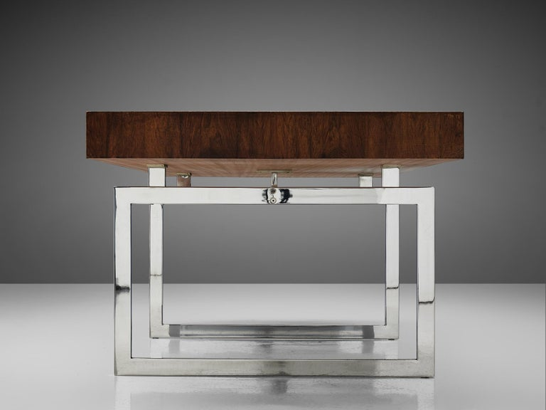 Rare Bodil Kjaer Executive Writing Table and Cabinet For Sale 1