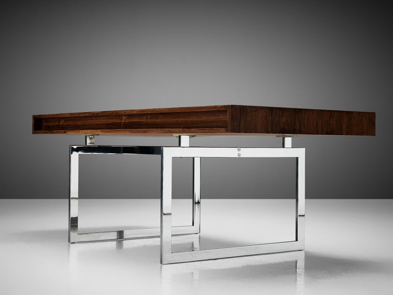 Rare Bodil Kjaer Executive Writing Table and Cabinet For Sale 2