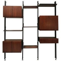 Rare Bookcase by Luciano Frigerio di Desio Milano, 1960s