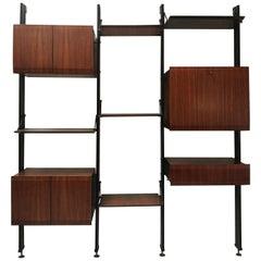 Rare Bookcase by Luciano Frigerio di Desio, Milano, 1960s