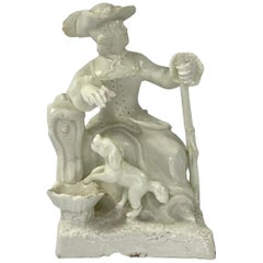 Rare Bow Porcelain Huntress, C. 1750